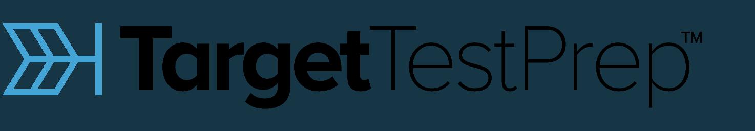 Logo for test prep company, Target Test Prep.