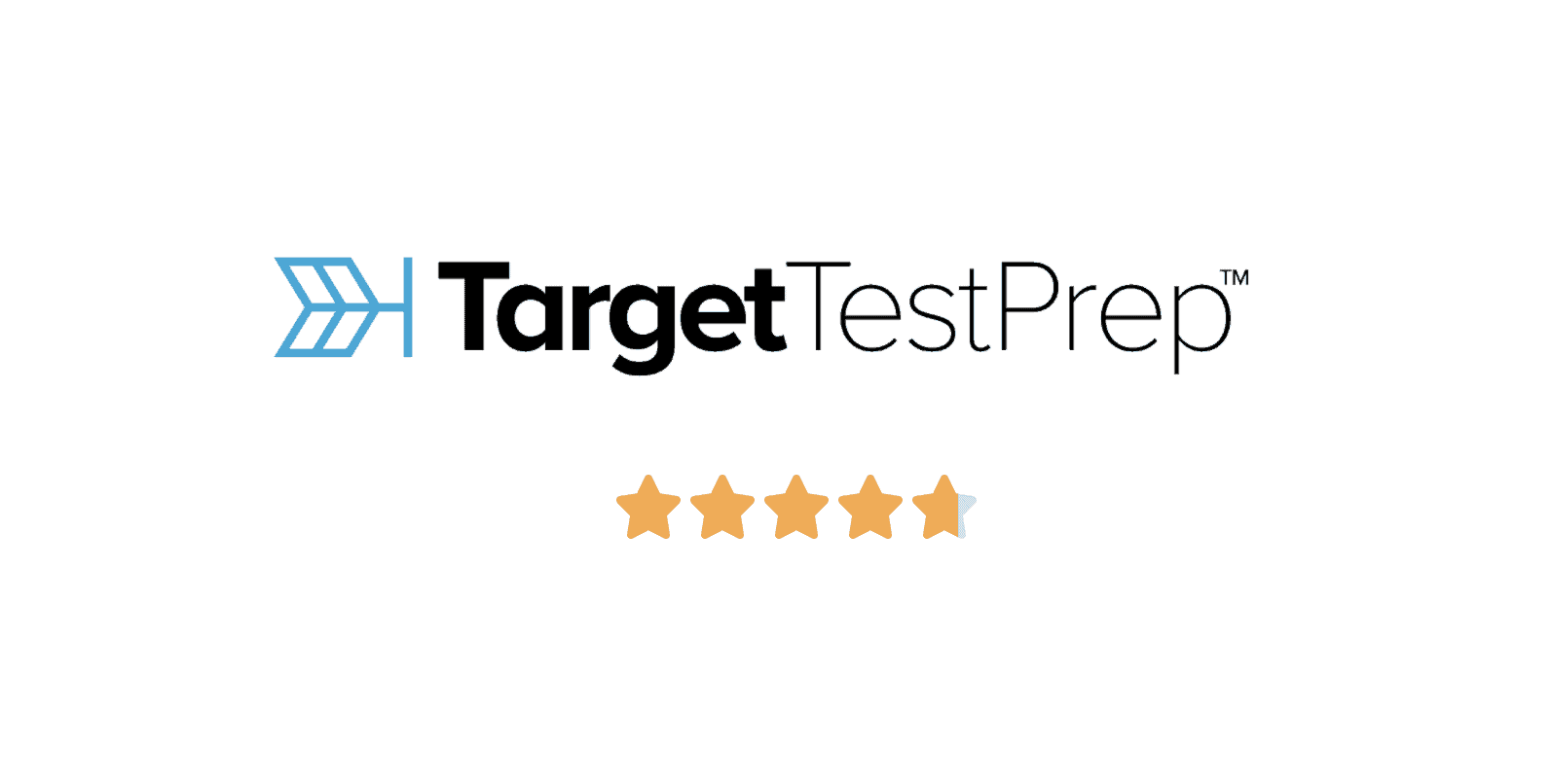 logo of target test prep with star rating