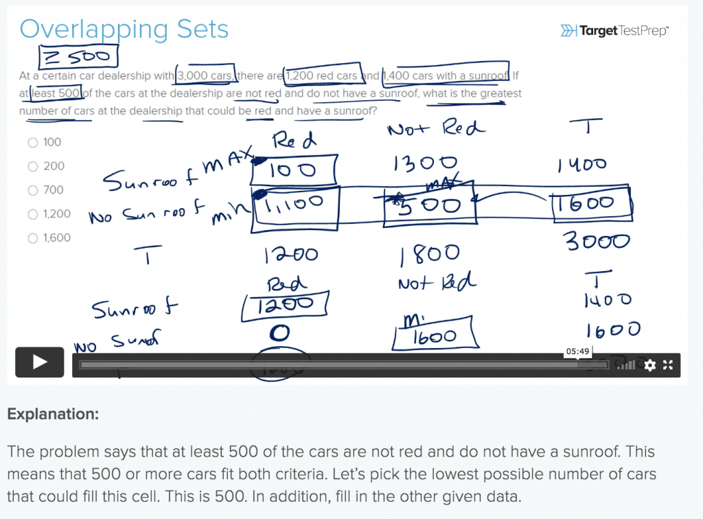 example three of target test prep video lesson