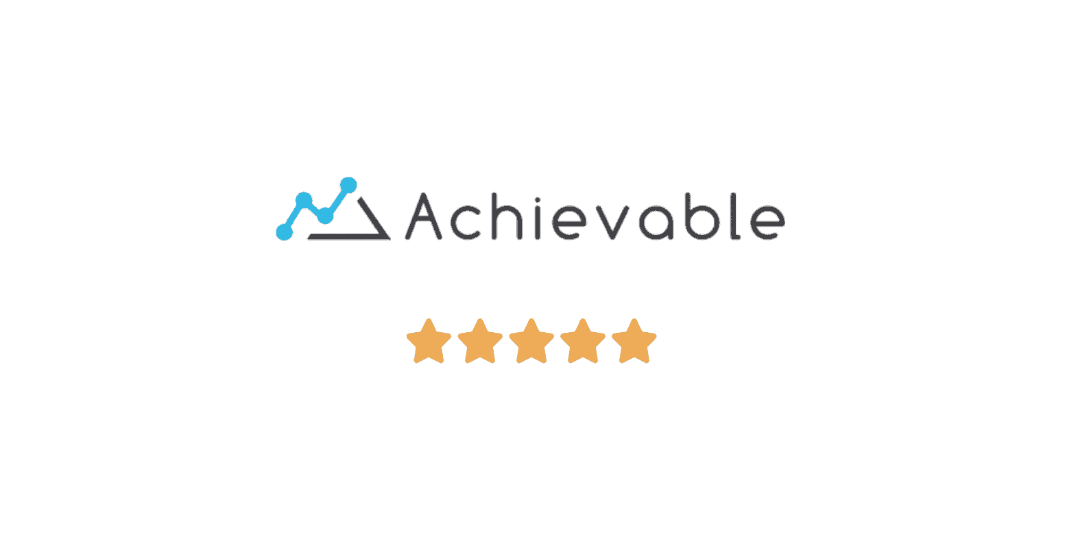 achievable gre logo with star rating
