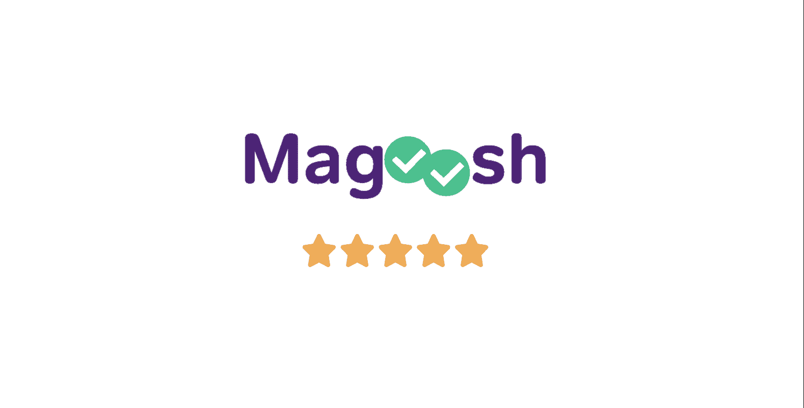 Magoosh GRE prep course log with five star rating