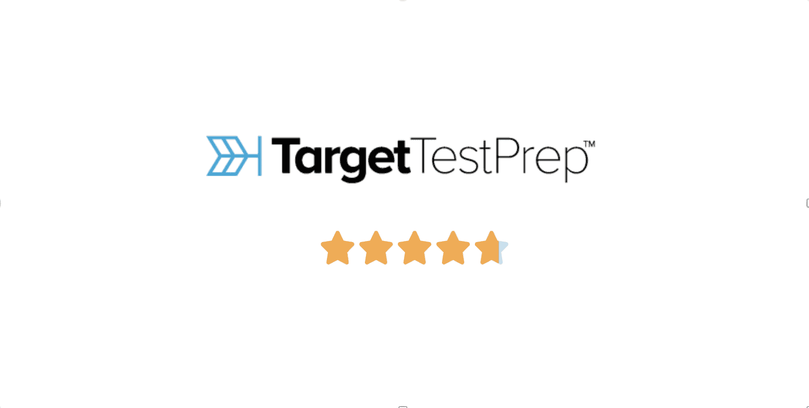 Target Test Prep GRE logo with star rating